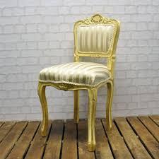 ladies bedroom chair white gold frame cream stripe ladies bedroom chair