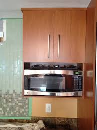 Under Cabinet Kitchen Storage by Wood Wall Mounted Microwave Shelf Storage Under Cabinet With Door