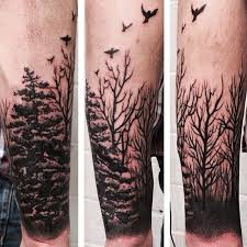 awesome forest tree tattoos on lower arm in 2017 photo