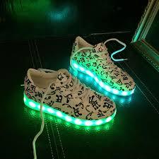 led light up shoes 8 colors men women luxury designer usb charging led lights shoes