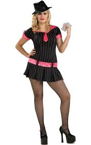 Woman Gangster Halloween Costumes 1920s Costumes Include Gangster Girls Flapper Dresses