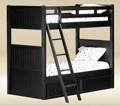 Black Wooden Bunk Beds Dillon Wood Bunk Bed
