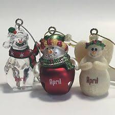 porcelain snowman ornaments ebay