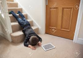 Leg Pain Going Down Stairs by Falling Down Stairs Stock Photos U0026 Pictures Royalty Free Falling
