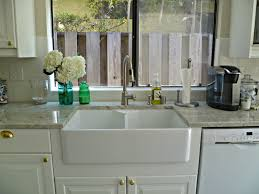 kitchen gray granite countertop with stainless stell single