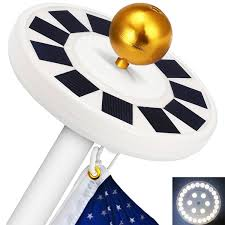 Flag Pole Light Best Solar Flagpole Lights Ledwatcher