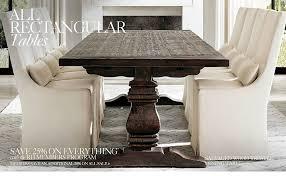 All Rectangular Tables RH - Restoration hardware dining room tables