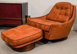 Swivel Chair And Ottoman Vintage Swivel Club Chair And Ottoman For Sale At 1stdibs