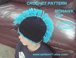crochet hair mohawk pattern three crochet chicks everything crochet mohawk crochet hat