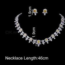 zircon necklace sets images Women aaa zircon little square clear cz bridal set for luxury jpg