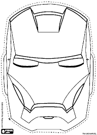 iron man mask coloring pages getcoloringpages