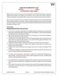 Disaster Plan Template disaster emergency plan template for families