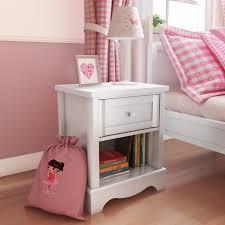 girls white bedside table victoria girls white 1 drawer bedside table furniture123