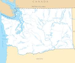 Washington rivers images Washington map blank political washington map with cities png