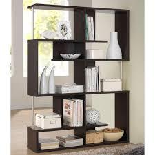 baxton studio kessler dark brown wood 5 tier open shelf 28862 5058