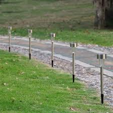 landscape path light garden outdoor stainless steel led solar power landscape path