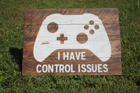 xbox wood sign control issues sign playroom wood sign game