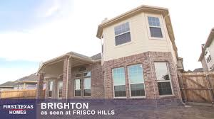 first texas homes the brighton floor plan video tour youtube