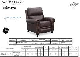 Lounge Chair Dimensions Ergonomics Barcalounger Dalton Ii Recliner Chair Leather Recliner Chair