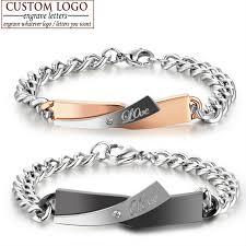 stainless steel crystal bangle bracelet images Custom made for you name bracelet stainless steel bracelets for jpg