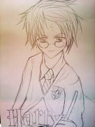 harry potter anime ver sketch by ritunes on deviantart