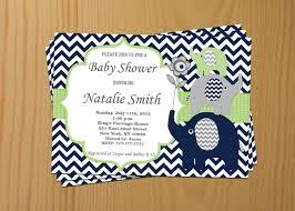 baby shower invitation elephant boy baby shower invitation