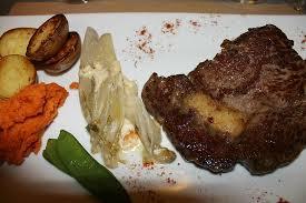 la cuisine des anges steak pureed pumpkin potato snap peas picture of la cuisine