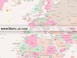 Printable World Map Printable World Map With Cities Featuring Gorgeous Pastel Florals