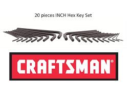 craftsman 20 piece hex key set inch sae 46696 amazon com