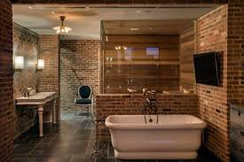 Exposed Brick Apartments Beautiful Exposed Brick Even In The Bath In His Nyc Penthouse For