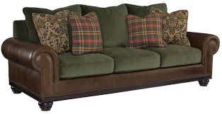 Bernhardt Leather Sofa by Furniture Leather Bernhardt Sofa With Green Cushions Seating And