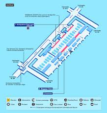 Atlanta Airport Concourse Map by Airport Guide International At The Airport In Flight