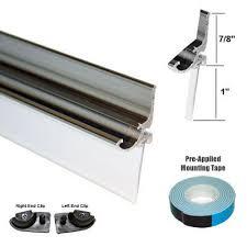 Sealing Shower Door Frame Chrome Framed Shower Door Replacement Drip Rail With Vinyl Sweep