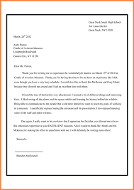 ideas of how to write a job shadow thank you letter for resume