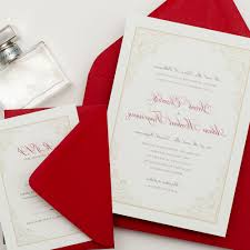 Silver Wedding Invitation Cards White Silver And Red Wedding Invitations Decorating Of Party