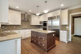 maple wood cherry yardley door two color kitchen cabinets maple wood cherry yardley door two color kitchen cabinets backsplash cut tile thermoplastic soapstone countertops sink faucet island lighting flooring