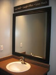 gray wall paint mirror with black wooden frame small real wood