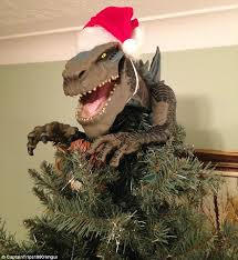 creative tree decorations feature king kong godzilla
