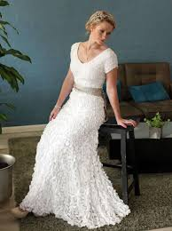 Stylish Wedding Dresses Wedding Dresses For Older Brides Feather Wedding Dress For New