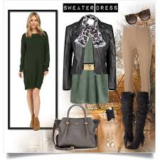 big bust fall dressing four looks with one sweater dress