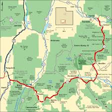 scenic byways scenic byway 12 map america s byways