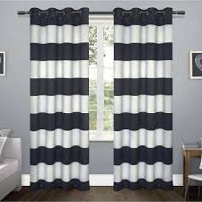 White And Navy Curtains Navy Curtains Drapes Window Treatments The Home Depot