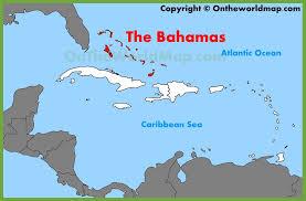 bahamas on a world map the bahamas location on the caribbean map