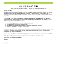 Great Sample Resume by Cna Sample Cover Letter