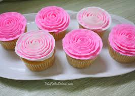 buttercream ribbon rose cupcakes minute video my cake