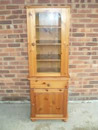 Pine Corner Hutch Pine Corner Unit With Glass Door With Cupboard And Draw In