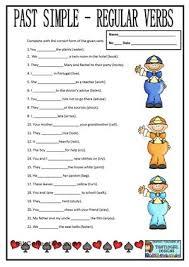 past progressive tense esl grammar exercise worksheet teaching