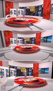 decoration studio news anchor desk for sale tv studio set design furniture equipment