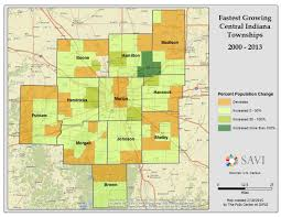 Chicago Area Zip Code Map by Savi U2013 Population Growth In Central Indiana