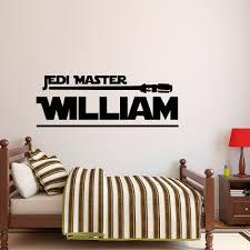 star wars decor star wars name decal jedi master wall decal star wars star wars